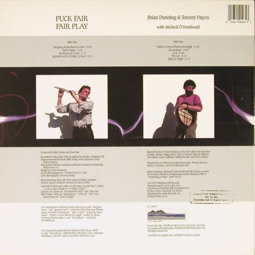 Puck Fair: Fair Play, Promo, Lost Lake Arts(LL-0093), US, 1987 - LP - C8936 - 6,00 Euro