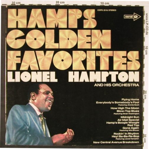 Hampton,Lionel & Orch.: Hamp's Golden Favorites, MCA Coral(COPS 2316), D, 1975 - LP - E1106 - 6,00 Euro