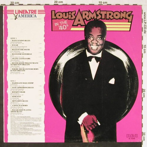 Armstrong,Louis: In The 40's, RCA(NL 42280), I,  - LP - E1265 - 5,00 Euro