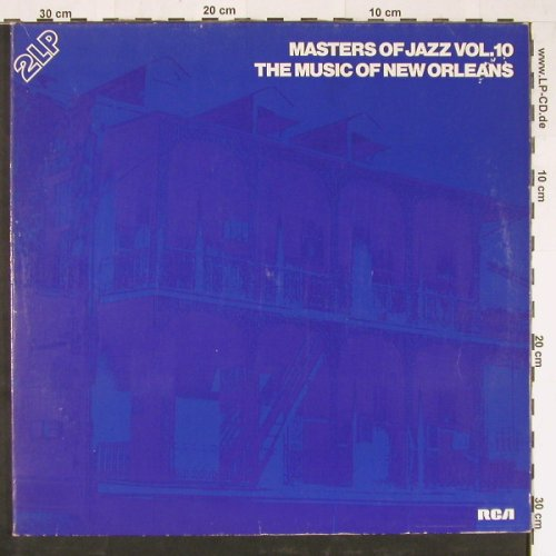 V.A.Music Of New Orleans: Masters Of Jazz Vol.10,Foc, 32 Tr., RCA(CL 42340), D, Mono, 1978 - 2LP - E1375 - 5,00 Euro