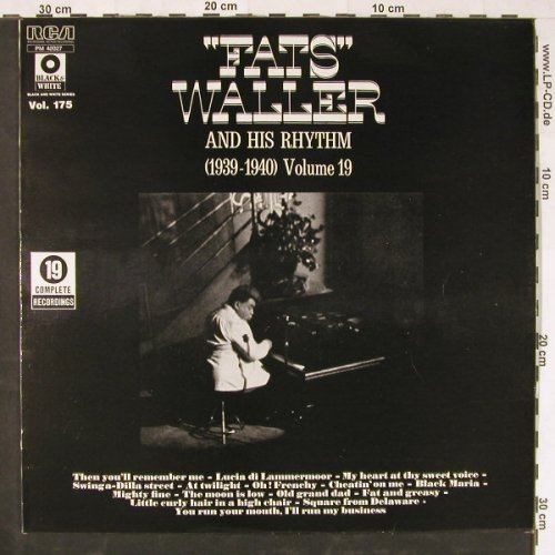 Waller,Fats & His Rhythm: (1939-1940) Volume 19, RCA(PM 42027), F,  - LP - E2072 - 5,00 Euro