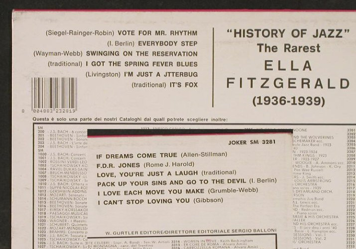Fitzgerald,Ella: The Rarest 1936-1939, Joker(SM 3281), I,  - LP - E3124 - 5,00 Euro