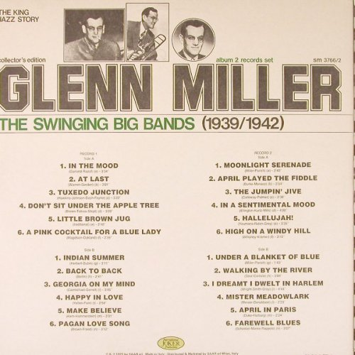 Miller,Glenn: 1939-42, The Swinging Big Bands,Foc, Joker(SM 3766*2), I, 1974 - 2LP - E3546 - 6,50 Euro