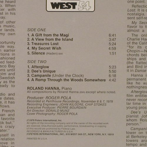 Hanna,Sir Roland: A Gift From The Magi, FS-New, West 54(WLW 8003), US, 1979 - LP - E3992 - 9,00 Euro