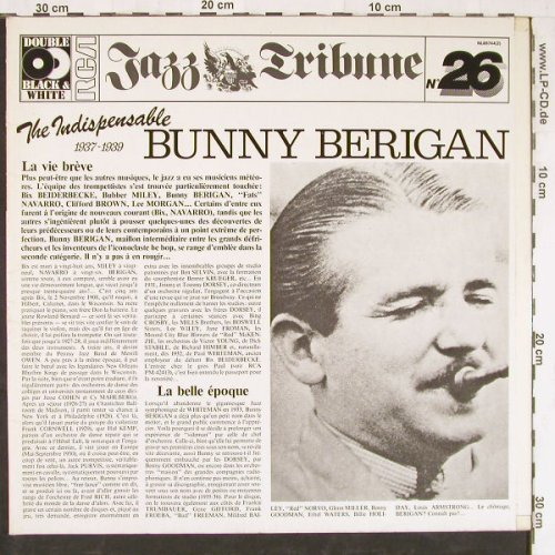 Berigan,Bunny: The Indispensable(1937/39),Foc, RCA(NL89744(2)), D, Mono, 1982 - 2LP - E4008 - 7,50 Euro