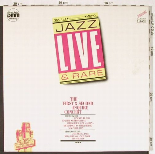V.A.The First & Second Esquire: Concert, 74 Tr.,Box,Ri, Mono, Delta/Jazzline(95 810-14), D,  - 5LP - E4045 - 12,50 Euro
