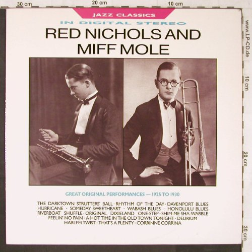 Nichols,Red & Miff Mole: Great Orig.Performances 1925-30, BBC(REB 664), UK, Ri, 1987 - LP - E6272 - 6,50 Euro