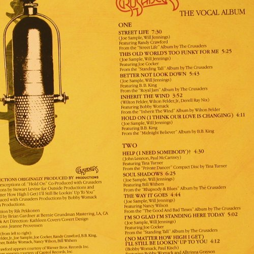 Crusaders: The Vocal Album, MCA(MCF 3395), UK, 1987 - LP - F136 - 5,00 Euro