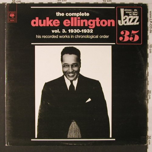 Ellington,Duke: The Complete Vol. 3, 1930-32, Foc, CBS(88 000), NL, 1974 - 2LP - F1625 - 7,50 Euro