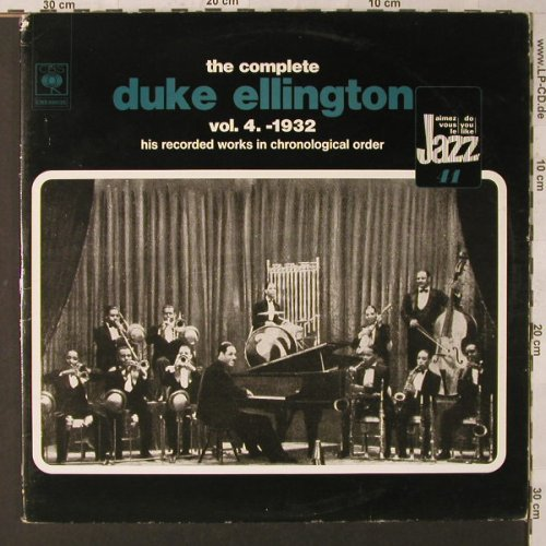 Ellington,Duke: The Complete Vol. 4, 1932, Foc, CBS(88035), NL,m-vg+, 1974 - 2LP - F1626 - 6,50 Euro
