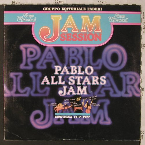 Pablo All Stars Jam: Jam Session, Foc, Fabbri Ed.(347146), I, 1977 - LP - F2463 - 5,00 Euro