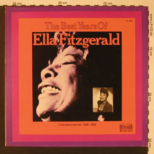 Fitzgerald,Ella: The Best Years Of (1936-1939), Historia(H-620), D, 1970 - LP - F2830 - 5,00 Euro