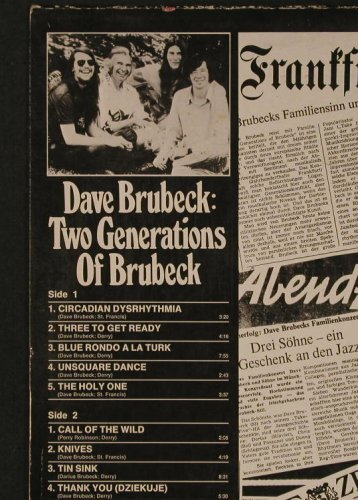 Brubeck,Dave: Two Generations of Brubeck,SternEd., Atlantic(40 537), D , m-/vg+, 1973 - LP - F3592 - 5,00 Euro