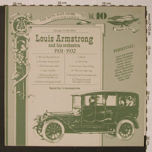 Armstrong,Louis and his Orchestra: Vol.10 1931-32,High Society, vg-/m-, Joker(SM 3751), I, 1975 - LP - F3643 - 2,50 Euro