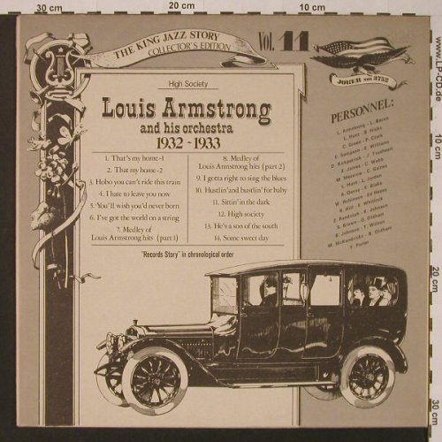 Armstrong,Louis and his Orchestra: Vol.11 1932-33,High Society, vg+/m-, Joker(SM 3752), I, 1975 - LP - F3644 - 2,50 Euro