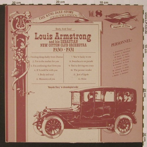 Armstrong,Louis and his Orchestra: Vol. 8-1929-30,Body and Soul,vg+/m-, Joker(SM 3749), I, 1975 - LP - F3646 - 2,50 Euro