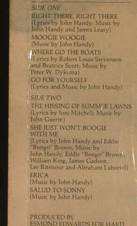 Handy,John: Where Go The Boats, WB(BSK 3170), US, 1978 - LP - F7654 - 6,00 Euro