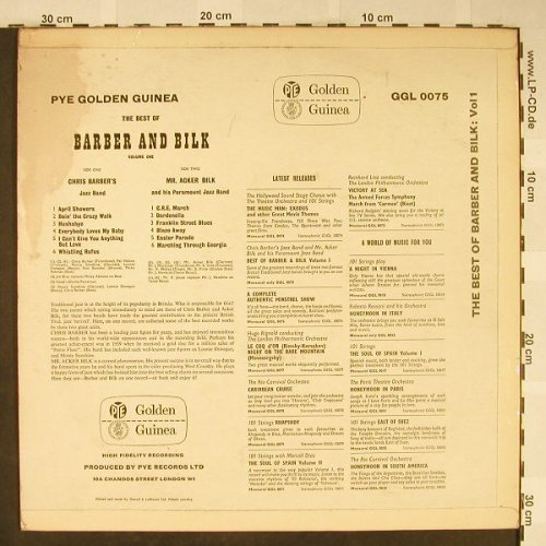 Barber,Chris and Mr.Acker Bilk: The Best Of, Foc, m-/vg--, PYE Golden Guinea(GGL 0075), UK, 1974 - LP - H1993 - 5,00 Euro
