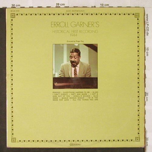 Garner,Erroll: Historical First Recordings 1944, Musidisc(30 JA 5101), F, m-/vg+,  - LP - H3490 - 4,00 Euro