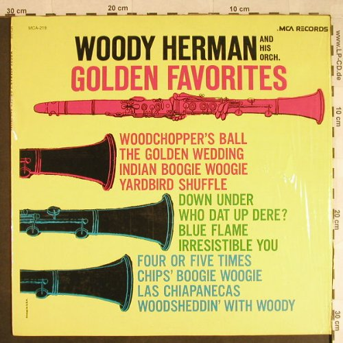 Herman,Woody & his Orchestra: Golden Favorites, MCA(MCA-219), US, Ri,  - LP - H525 - 6,00 Euro