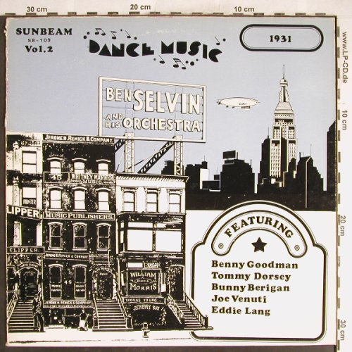 Selvin,Ben  and his Orchestra: 1931, Vol.2,  vg+/vg+, Sunbeam(SB-109), US, 1971 - LP - H6188 - 4,00 Euro