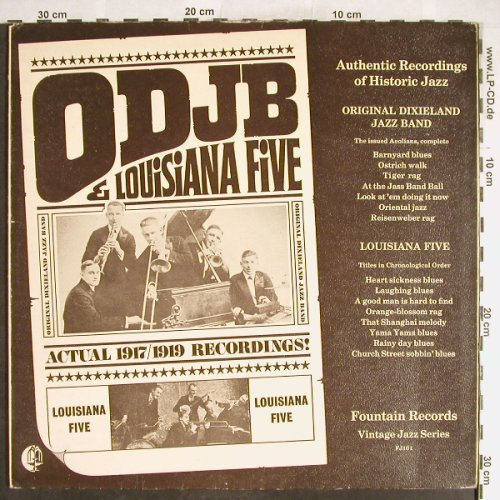 ODJD & Louisiana Five: 1917-1919, Foc, Fountain(FJ-101), ,  - LP - H6230 - 6,00 Euro