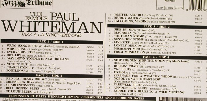 Whiteman,Paul: Jazz A La King(1920-1936), Foc, RCA-JazzTrib.No.3(NL89783(2)), D, 1979 - 2LP - H6253 - 7,50 Euro
