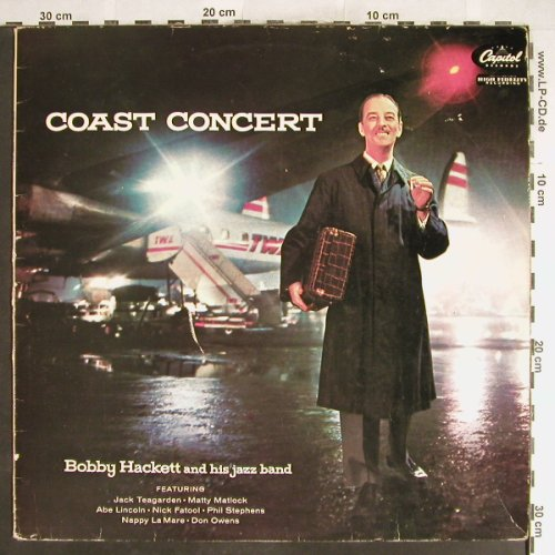 Hackett,Bobby  and his Jazzband: Coast Concerts, vg+/VG+, Capitol(T 692), NL,  - LP - H6281 - 3,00 Euro