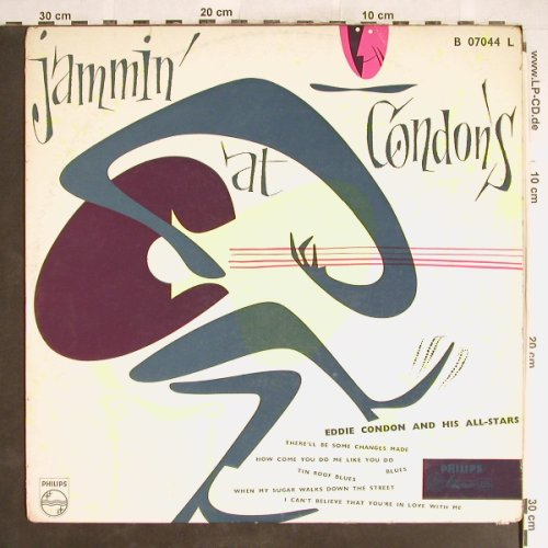 Condon,Eddie  and his Allstars: Jammin' at Condon's, Philips(B 07044 L), NL,VG-/VG-,  - LP - H6282 - 3,00 Euro