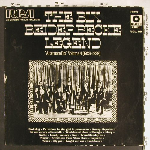 Beiderbecke,Bix: The B.B.Legend Vol.4,26-38,vg+/vg+, RCA Vol.90(741.093), F,  - LP - H6306 - 4,00 Euro