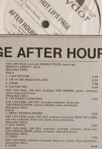 Hot Lips Page: After Hour in Harlem,Musterplatte, Polydor/ONYX(2310 343), D, 1974 - LP - H6415 - 9,00 Euro