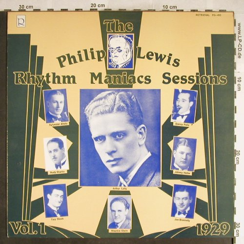 Lewis,Philip: Rhythm Maniacs Session Vol.1,1929, Retrieval(FG-410), UK,  - LP - H6425 - 7,50 Euro