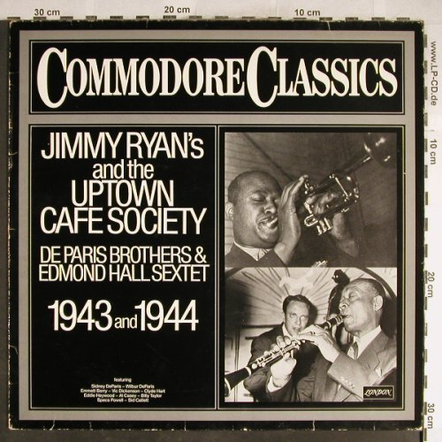 Ryan,Jimmy  & h.Uptown Cafe Society: De Paris Brothers&Edm.Hall,1943/44, Commodore(6.24296 AG), D,vg+/vg+,  - LP - H6437 - 5,00 Euro
