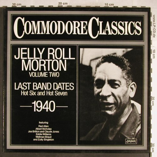Morton,Jelly Roll: Last Band Dates 1940 - Vol.2, Commodore,Archiv-Stol(6.24546 AG), D, woc, 1981 - LP - H6440 - 5,00 Euro