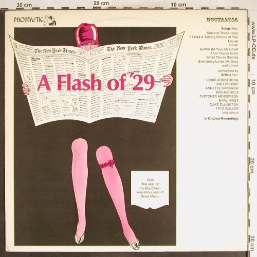 V.A.A Flash of '29: L.Armstrong,Crosby...Ben Pollack, Phontastic Nostalgia(NOST 7608), S, m-/vg+,  - LP - H6575 - 4,00 Euro