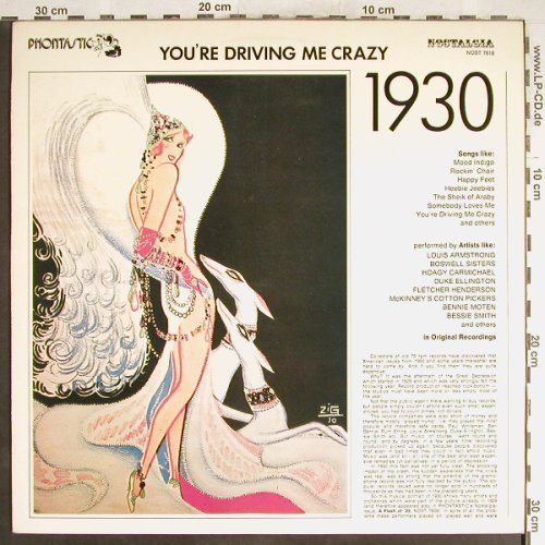 V.A.You're Driving Me Crazy: Elligton..Mc Kinney's Coton Pickers, Phontastic Nostalgia(NOST 7618), S, m-/vg+,  - LP - H6576 - 5,00 Euro