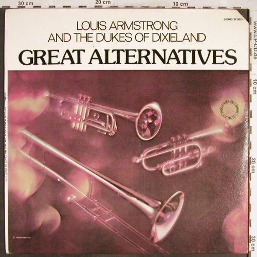 Armstrong,Louis: Great Alternatives, Chiaroscuro Rec.(CR-2003), US, CO,  - LP - H6663 - 7,50 Euro