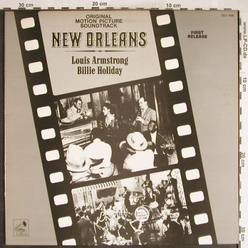 Armstrong,Louis / Billie Holiday: New Orleans OST, Foc, Giants Of Jazz(GOJ 1025), UK, 1983 - LP - H6664 - 5,50 Euro