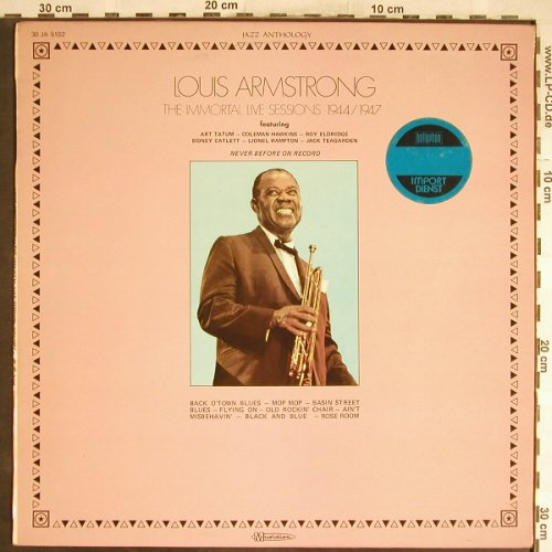Armstrong,Louis: The Immortal Live Sessions1944/1947, Musidisc, woc(30 JA 5102), F, m-/vg-,  - LP - H6668 - 4,00 Euro