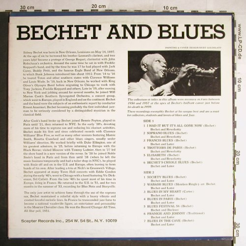 Bechet,Sidney: Bechet and Blues, Scepter(SPX 537), US,  - LP - H6680 - 9,00 Euro