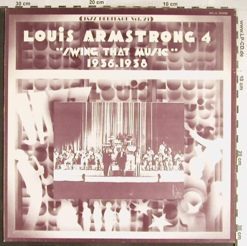 Armstrong,Louis: Swing That Music(4), 1936-1938, MCA(MCA 510.038), F, 1974 - LP - H6688 - 6,00 Euro