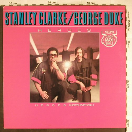 Clarke,Stanley & George Duke: Heroes*2, Promo-Stoc, Epic(A-12.3860), NL, 1983 - 12inch - H6721 - 3,00 Euro
