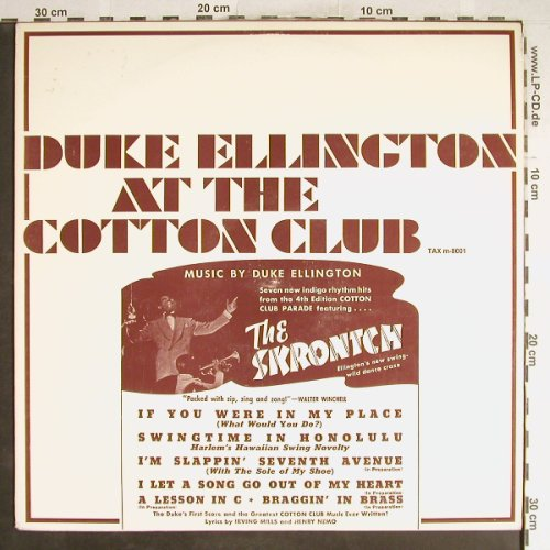 Ellington,Duke: At The Cotton Club,f. the Skrontch, TAX(m-8001), EU,  - LP - H6736 - 5,00 Euro