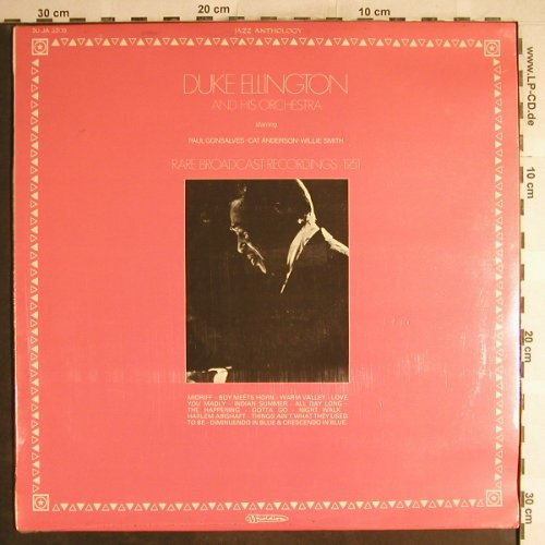 Ellington,Duke: Rare Broadcast Recordinga'51,FS-New, Musidisc(20 JA 5209), F,  - LP - H6754 - 7,50 Euro