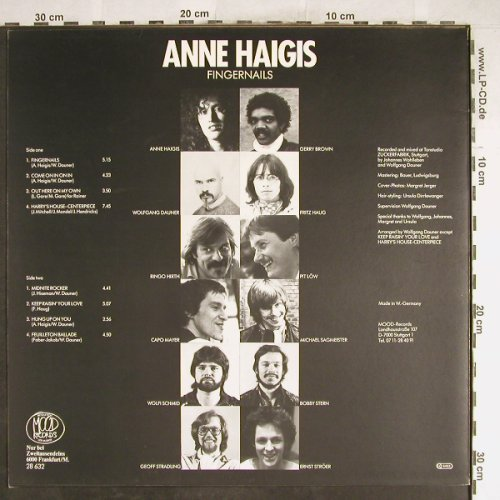 Haigis,Anne: Fingernails, Mood(28 632), D, 1984 - LP - H6788 - 7,50 Euro