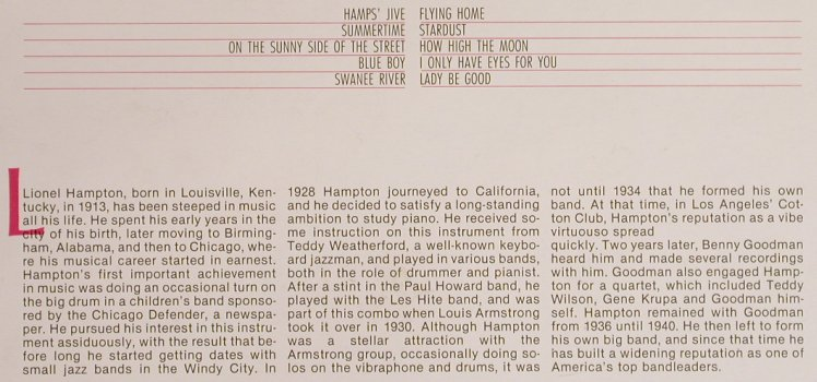 Hampton,Lionel: Flying Home, Big Band Era(F 20 129), D, 1984 - LP - H6790 - 5,50 Euro