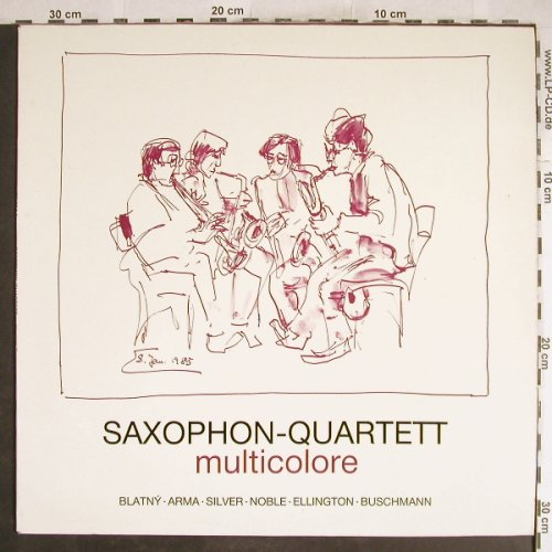 Saxophon-Quartett: Multicolore 2, Life Records(J3E 254.5), D,  - LP - H6999 - 7,50 Euro