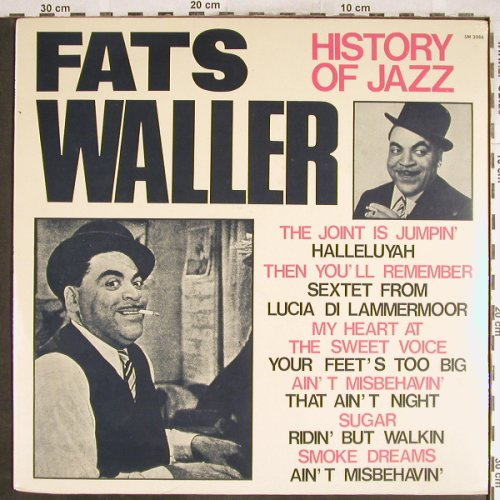 Waller,Fats: History Of Jazz, FS-New, Joker(SM 3086), I, 1971 - LP - H7008 - 7,50 Euro
