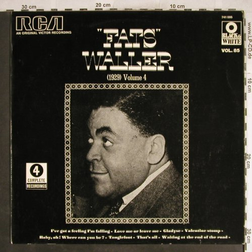 Waller,Fats: (1929) Volume 4, m-/vg+, woc, RCA(741 086), F,  - LP - H7114 - 4,00 Euro