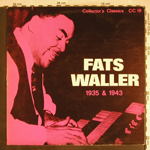 Waller,Fats: 1935 & 1943, Collector's Classics(CC 19), UK,  - LP - H7115 - 5,00 Euro